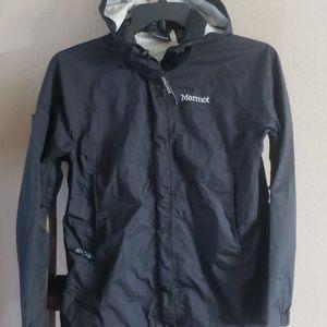 Marmot Black Rain Jacket size Medium
